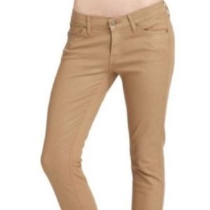 NWT 7 For All Mankind Cropped Skinny Shiny Jeans